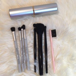 Make up brushes and case